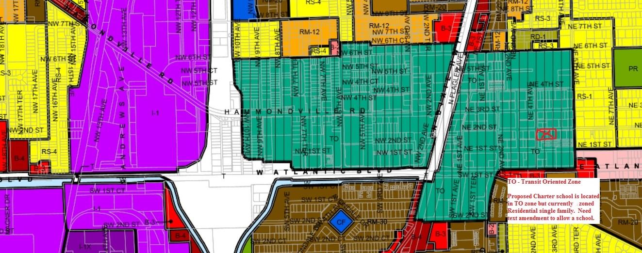 Map Of Pompano Beach Florida.Charter School Pompano Beach Zoning Map Green Children S House